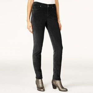 NWT Style & Co Velvet Mid Rise Skinny Leg Jean